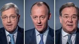 Mehrheit hält keinen der CDU-Vorsitzkandidaten für kanzlertauglich