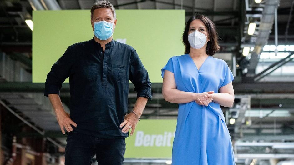 Robert Habeck und Annalena Baerbock am Sonntag in Berlin.