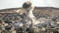 Seit Wochen kämpfen IS und kurdische Kämpfer um die Grenzstadt Kobane