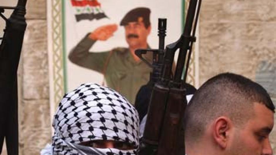 Verehrung kennt keine Grenzen: Pro-Saddam-Demo im Westjordanland