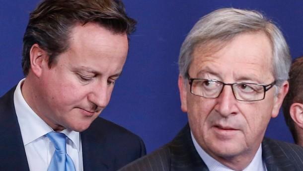 Juncker: Werde nicht vor Cameron auf die Knie fallen