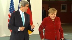 Amerikanischer Außenminister Kerry trifft Bundeskanzlerin Merkel