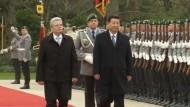 Chinas Präsident besucht Deutschland
