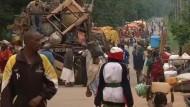 Muslimische Familien fliehen aus der Hauptstadt der zentralafrikanischen Republik