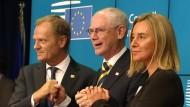 Tusk wird neuer EU-Ratspräsident, Mogherini Außenbeauftragte