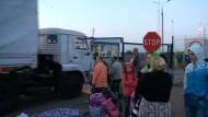 Zweiter russischer Hilfskonvoi hat Ukraine erreicht