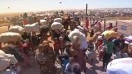 Dramatische Bilder von der syrisch-türkischen Grenze
