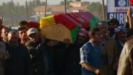 Trauerfeier für getötete Kurden-Kämpfer
