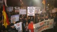 Protest gegen Rot-Rot-Grün in Thüringen