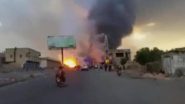 Amateuraufnahmen von Luftangriffen