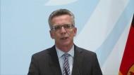 De Maizière: Verhalten Österreichs an der Grenze nicht in Ordnung