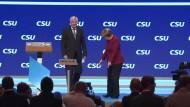 Merkel auf CSU-Parteitag: Zankapfel Zuwanderung