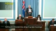 Regierung in Island übersteht Misstrauensvotum