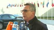 De Maizière bedauert Rückschlag für Ermittlungen
