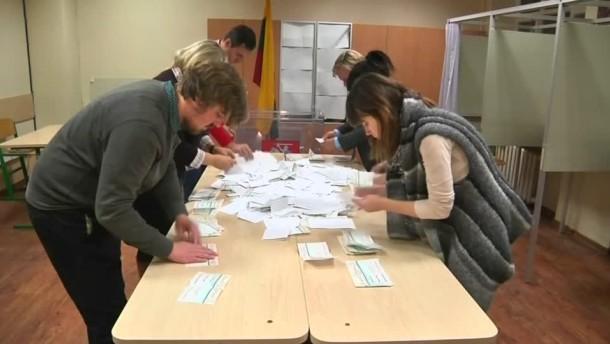 Opposition gewinnt überraschend Parlamentswahlen in Litauen