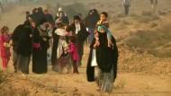 Hunderte Iraker sind auf der Flucht