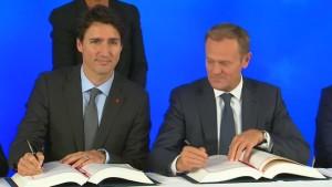EU und Kanada unterzeichnen Freihandelsabkommen Ceta