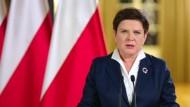 Szydlo greift nach Protesten in Polen die Opposition an