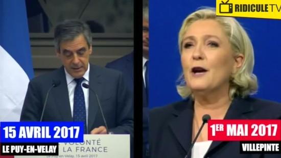 Le Pen soll Rede teilweise von Fillon abgeschrieben haben