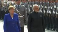 Merkel und Modi betonen enge deutsch-indische Zusammenarbeit