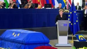 Emotionaler Aufruf zur Einheit der EU bei Trauerakt für Kohl