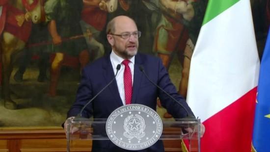 Schulz spricht sich für mehr EU-Solidarität aus