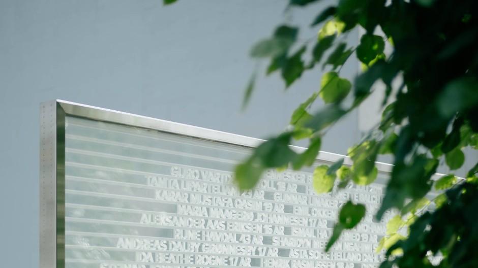 Temporär: Die Gedenkstätte für die Anschlagsopfer aus dem Jahr 2011 im Osloer Regierungsviertel