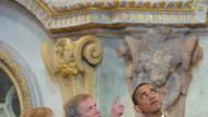 Landesbischof Jochen Bohl führte Angela Merkel und Barack Obama durch die Dresdner Frauenkirche