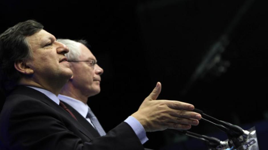 Verantwortlich für einen inhaltsleeren Kompromiss: EU-Kommissionspräsident Barroso und Ratspräsident Van Rompuy