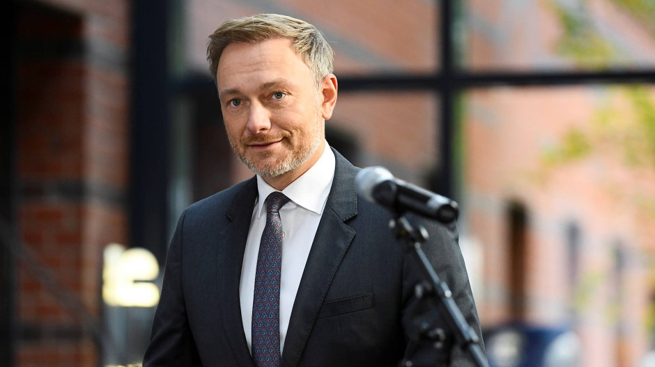 "Hat ""positive Vibes"": der FDP-Vorsitzende Lindner am Montag in Berlin"