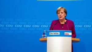 Merkel gesteht Fehler ein