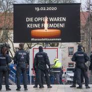 4. März 2020: Trauer in Hanau nach dem Terroranschlag vom 19. Februar, bei dem neun Personen sowie die Mutter des Attentäters ermordet wurden.