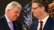 Herbe Verluste: Volker Bouffier (CDU) und Thorsten Schäfer-Gümbel (SPD)