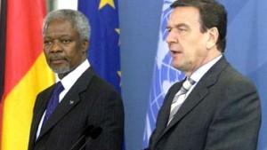 Schröder und Annan appellieren an Japans Umweltgewissen