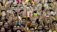 Rockkonzert? Nein: Der Papst ist in Manila.