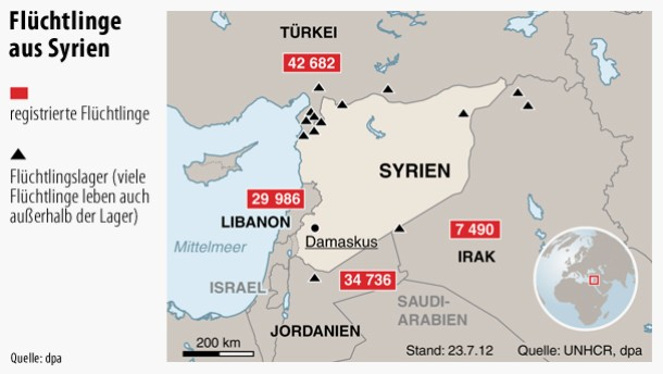 Flüchtlingswelle aus Syrien erwartet