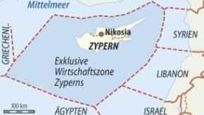 Karte / Gasvorkommen vor Zypern