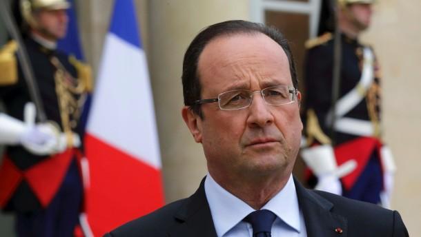 Hollande in seiner Festung