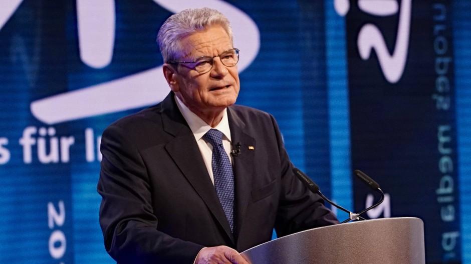 Bundespräsident Joachim Gauck, hier bei der Civis Medienpreisverleihung 2016