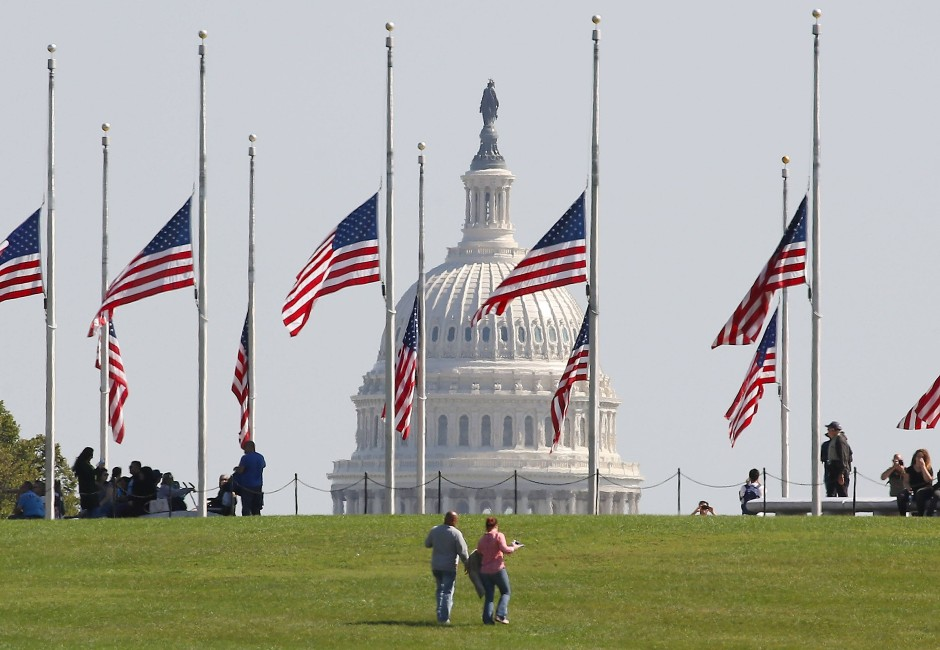 Halbmast-Beflaggung in Washington