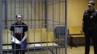 Moskau: Der Journalist Iwan Golunow vor Gericht