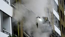 Explosion und Brand: Mehr als 20 Menschen im Krankenhaus