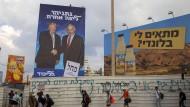 Freund und Wahlkampfhelfer: Trump und Netanjahu auf einem Plakat in Israel.