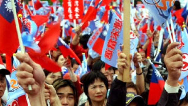 Proteste nach der Wahl Chens