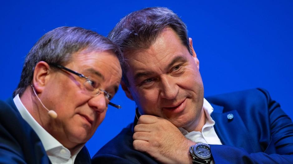 Ein Herz und eine Seele? Kanzlerkandidat der Union kann nur einer werden: Armin Laschet oder Markus Söder