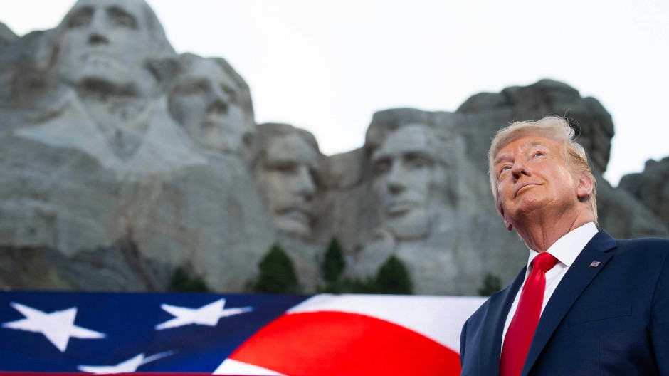 Donald Trump am Mount Rushmore