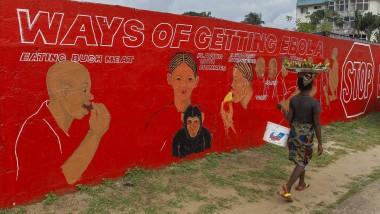 Viele Menschen in Westafrika wissen kaum etwas über Ebola, Liberia versucht mit Schaubildern aufzuklären