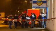 Räuber erschießt Kunden bei Supermarkt-Überfall