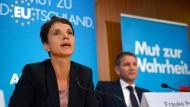 Angst vor Abstieg: Die Parteivorsitzende FRauke Petry und ihr ärgster Widersacher Björn Höcke.