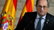 Ihm wird vorgeworfen, bei der Regionalwahl im vergangenen Jahr, das Neutralitätsgebot verletzt zu haben: Quim Torra
